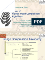 Presentation-Survey of Fractal Image Compression Algorithms