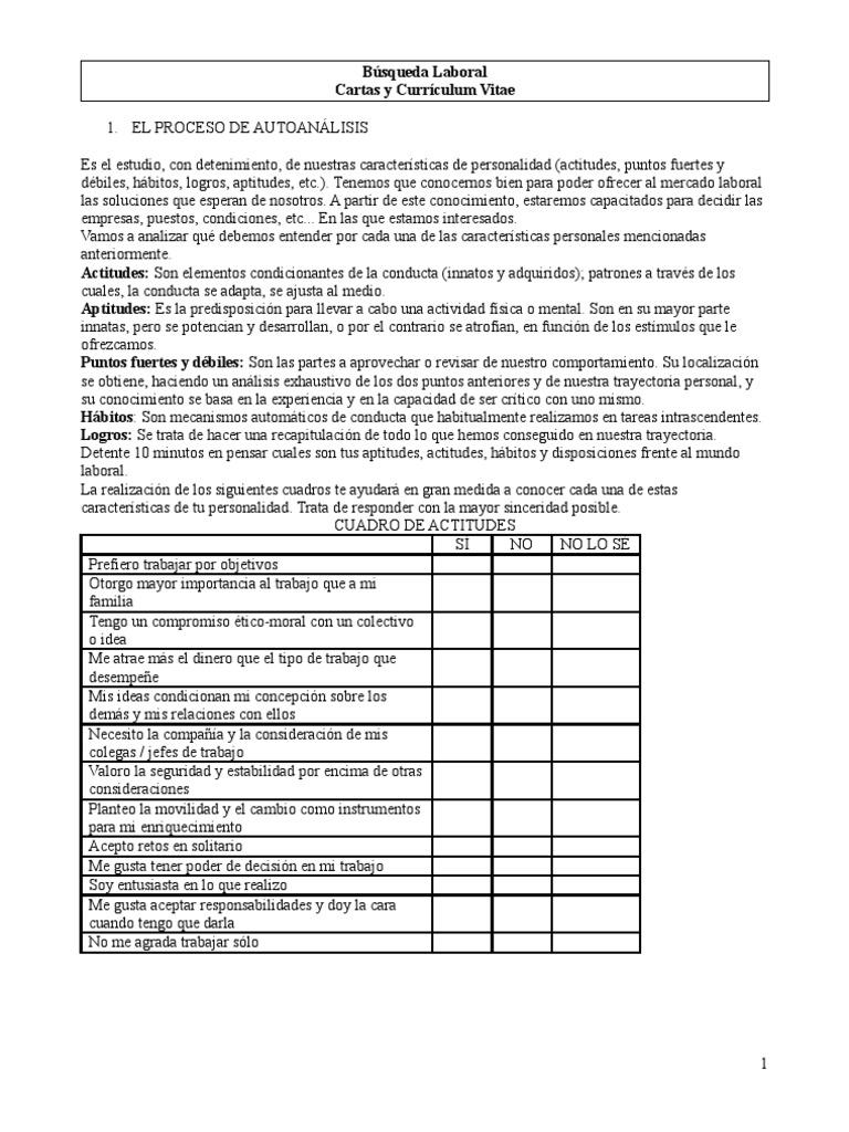 Separata Cartas y CV Actual