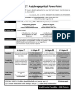 020 - Autobiographical Power Point Rubric