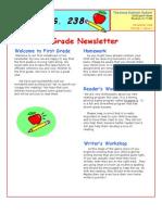 1st Grade Newsletter Template 1
