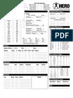 Hero System Character Sheet