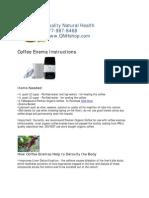 Coffee Enema Instructions QNHshop