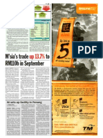 TheSun 2008-11-06 Page27 Msia Trade Up 13.7 Pct to RM110b in Sept