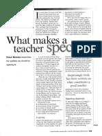 What Makes a Teacher Especial