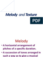 Melody and Texture