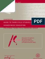 AEC Handbook - Guide to Third Cycle Studies in Higher Music Education - En