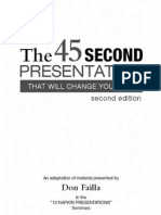 45 Seconds Presentation