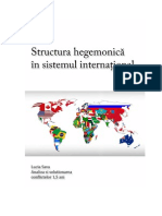 Structura Hegemonica in Sistemul International[1]
