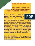 Republic Act No. 7076