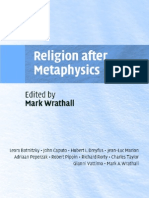 Religion After Metaphysics - Mark a. Wrathall