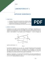 laboratorio 1 DIFUSOR SUBSONICO