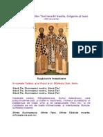 Acatistul Sfinţilor Trei Ierarhi Vasile - Grigorie - Ioan 30 ian