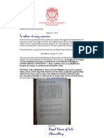 11.01.2012 Andres Linholm. Aide Memoir Dated August 29, 1962 Regarding Sovereignty Over the Territory of North Borneo