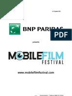 Dossier de Presse Mobile Film Festival Selection Officielle DEFINITIF