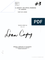 1957 the Spectral Emissivity and Optical Properties of Tungsten