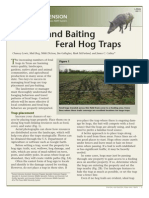 Placing and Baiting Feral Hog Traps