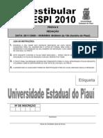 UESPI 2010 REDAÇÃO
