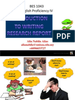 Introduction to Writing a Research BES 1043