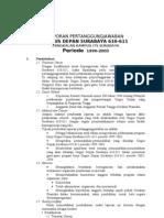 Laporan Pertanggungjawaban Gudep 1999-2003