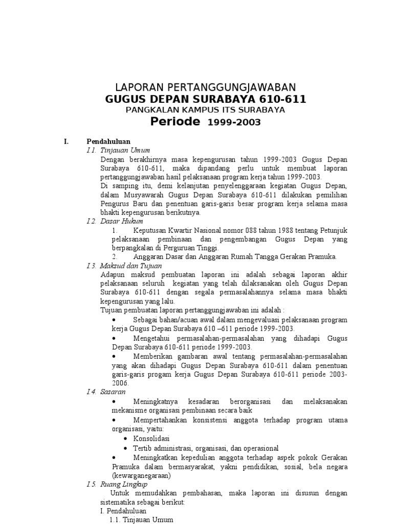 Laporan Pertanggungjawaban Gudep 1999 2003