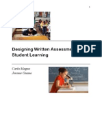 Designing Written Assessment of Student Learning