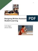 Designing Written Assessment of Student Learning