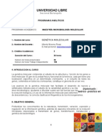 Programa de Genetica Molecular Maestria Microbiologia Unilibre