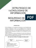 PLAN ESTRATEGICO DE TECNOLOGIA DE INFORMACIÓN