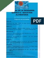 SEMANA DE LA INGENIERÍA QUÍMICA E  INDUSTRIA ALIMENTARIA