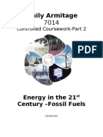 Fossil Fuels Course Work