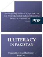 Thesis In An Essay Illiteracy In Pakistan  Public Health Essays also Example Essay Thesis Statement Essay On Illiteracy In Pakistan  Literacy  Millennium Development  How To Stay Healthy Essay