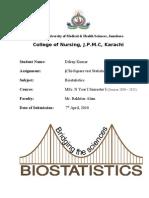 Biostatistict Assignment