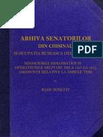 Arhiva Senatorilor Din Chisinau Si Ocupatia Ruseasca de La 1806-1812