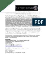 Veterans Admin - Social Work 2012-2013