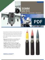 30mm GAU-8/A PGU-13/B HEI - PGU-14/B API - PGU-15/B TP
