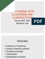 Data Mining and Clustering - Benjamin Lam