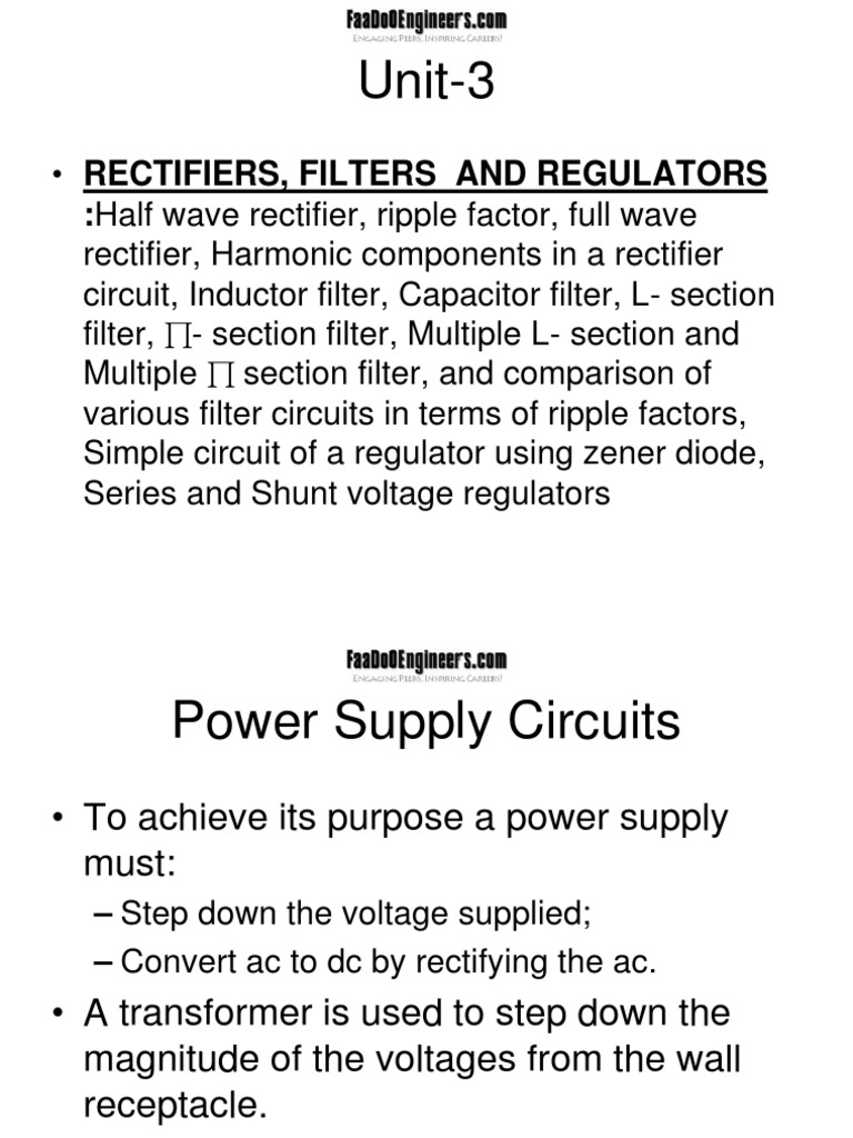 Unit 3 | Rectifier | Inductor