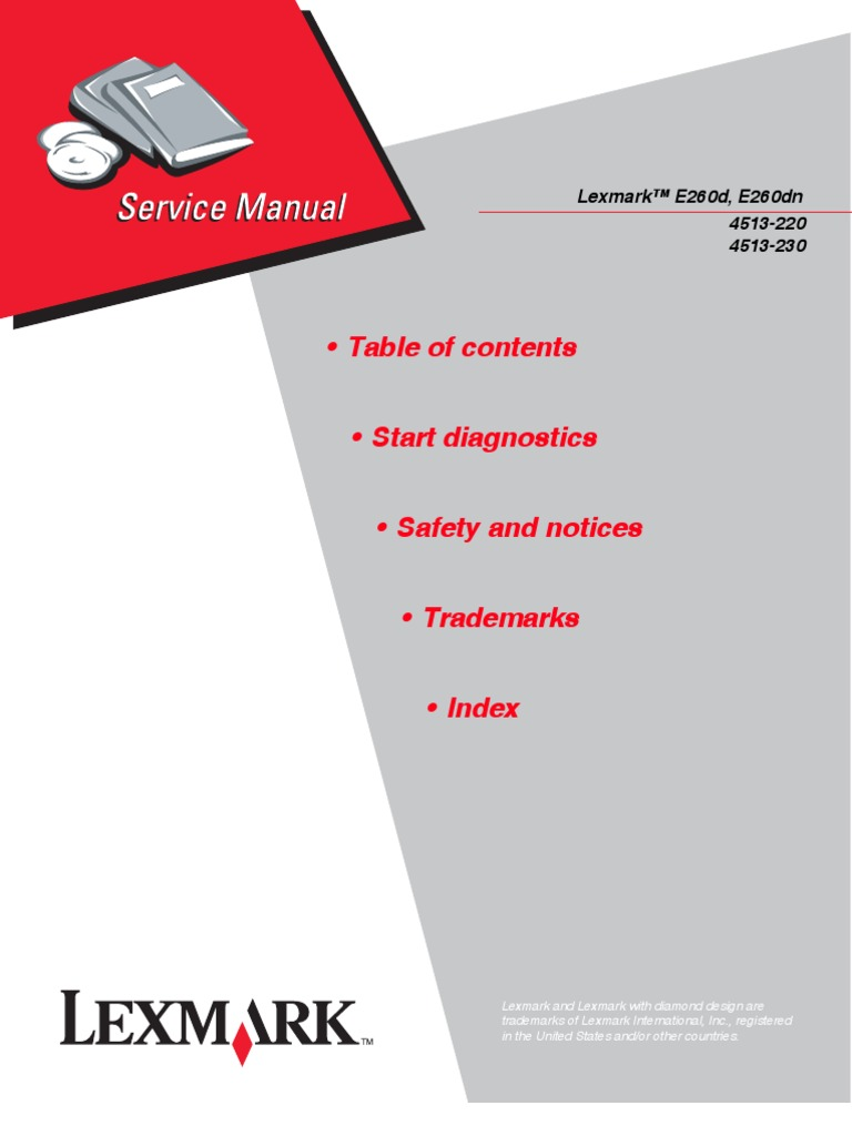 Table of contents • Start diagnostics • Safety and notices