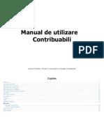 Manual de Utilizare - Contribuabili