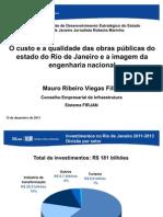 APRESENTAÇÃO DO DR  MAURO VIEGAS FILHO - FIRJAN