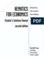 HOY - Solutions Manual for Mathematics for Economics