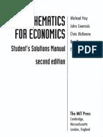 HOY - Solutions Manual for Mathematics for Economics