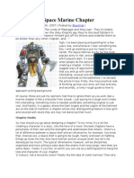 Designing a Space Marine Chapter