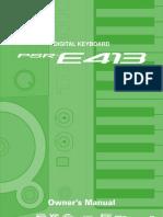 Yamaha PSR-E413 Manual Eng