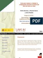 Guía para mejorar y trabajar la comprensión durante la lectura del libro de texto en clase. Primaria. Emilio Sánchez Miguel