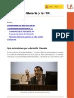 Educación literaria y TIC. Felipe Zayas