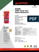 Amprobe AC68C Sheet