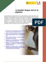 6 criterios para enseñar lengua oral en la Educación Obligatoria. Montserrat Vilà i Santasusana