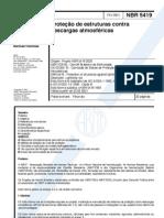 NBR 5419 - Proteção de estruturas contra descargas atmosféricas