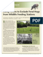 Using Fences to Exclude Feral Hogs from Wildlife Feeding Stations